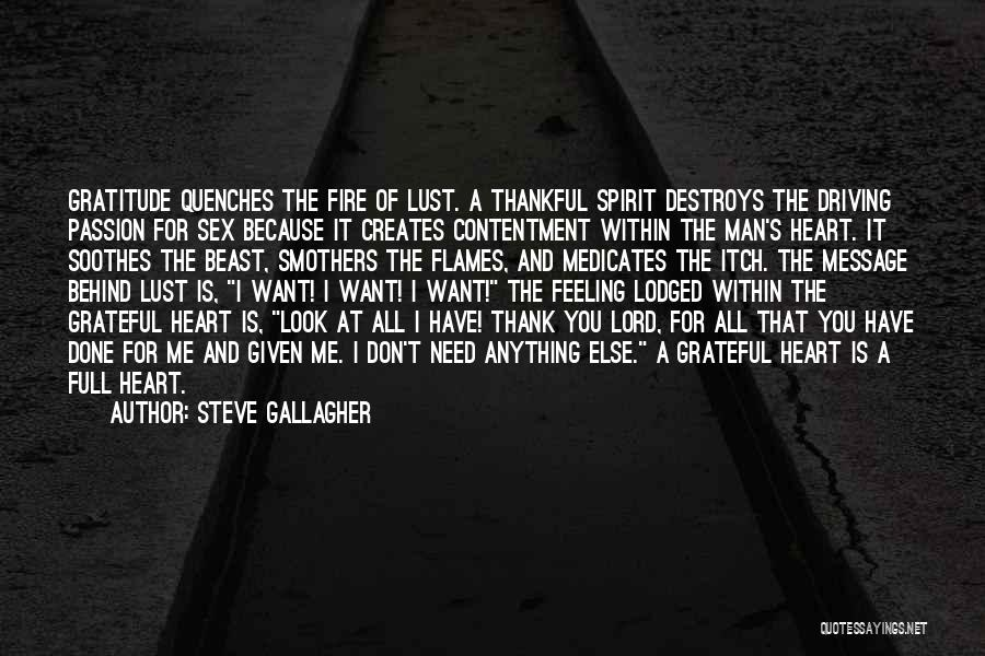 Need You Lord Quotes By Steve Gallagher