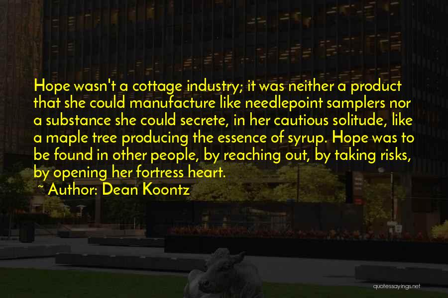 Needlepoint Quotes By Dean Koontz