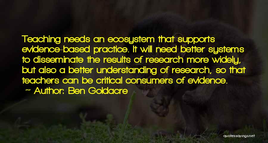 Needs Quotes By Ben Goldacre