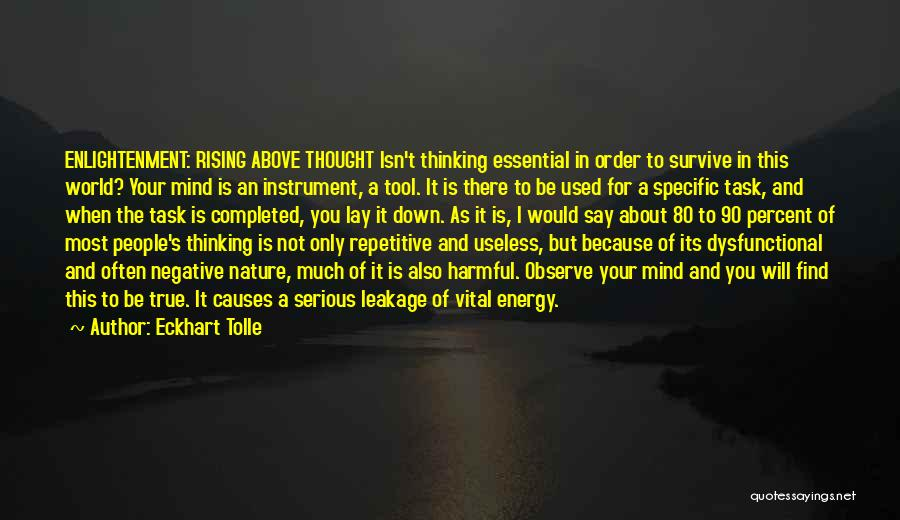 Negative But True Quotes By Eckhart Tolle