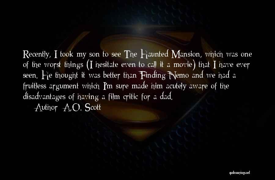 Nemo's Quotes By A.O. Scott