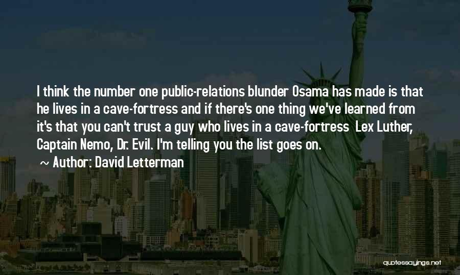 Nemo's Quotes By David Letterman