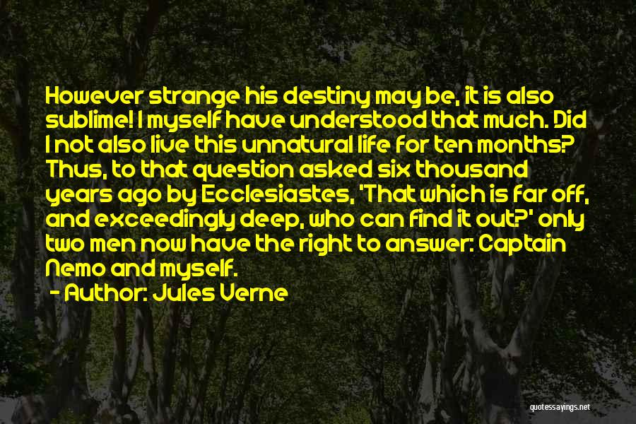 Nemo's Quotes By Jules Verne