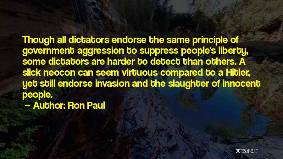Neocon Quotes By Ron Paul