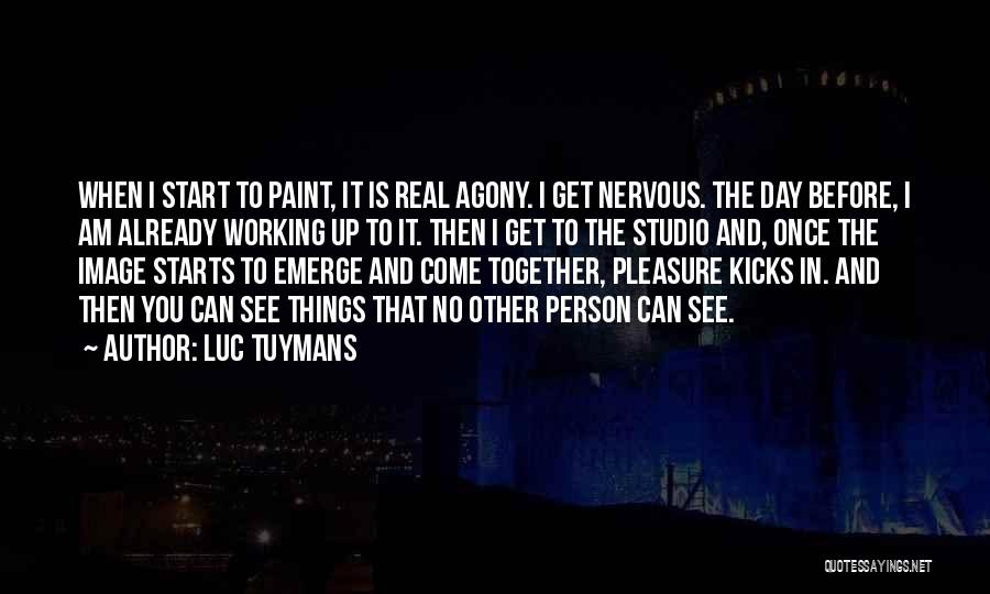 Nervous And Anxiety Quotes By Luc Tuymans