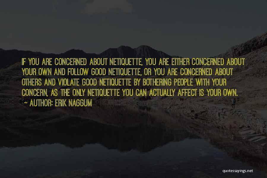 Netiquette Quotes By Erik Naggum