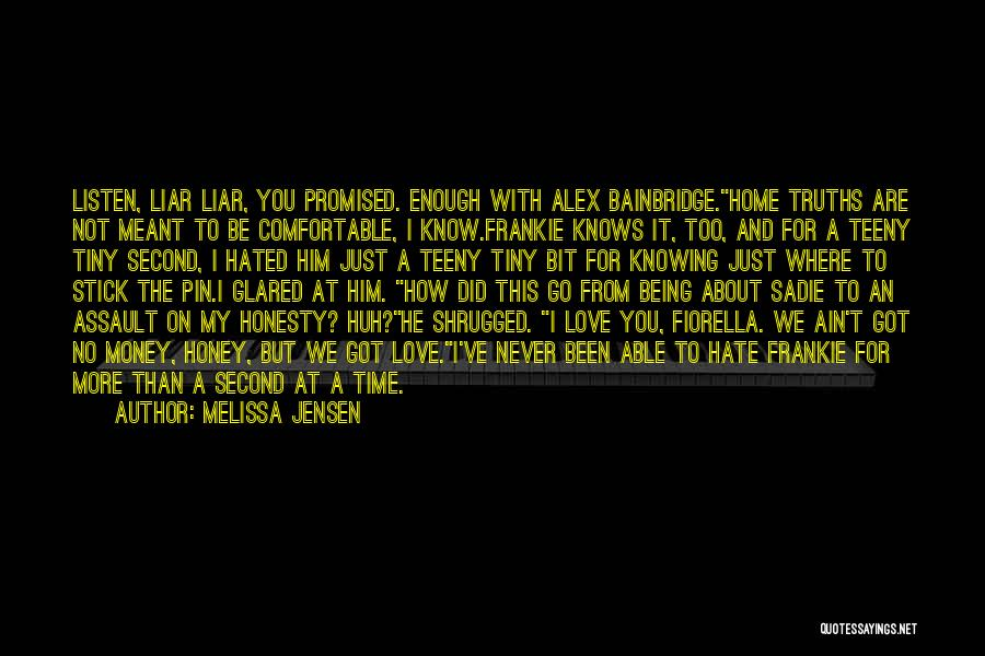 Never Be Comfortable Quotes By Melissa Jensen