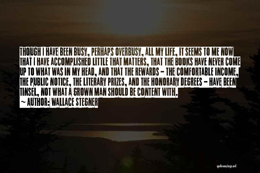 Never Be Comfortable Quotes By Wallace Stegner