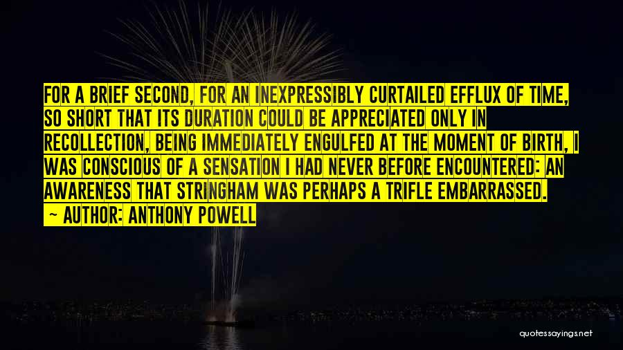 Never Be Embarrassed Quotes By Anthony Powell