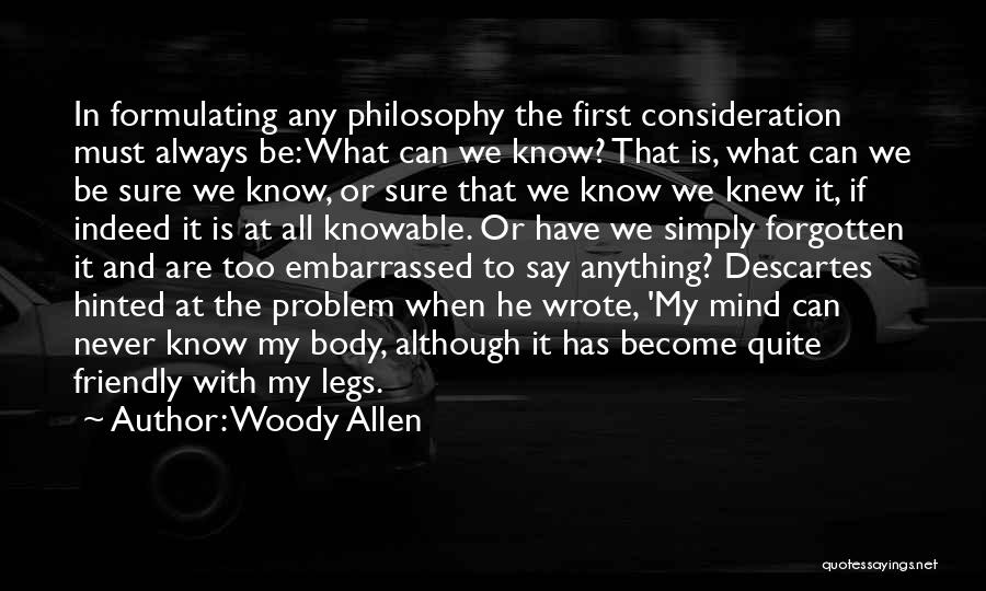 Never Be Embarrassed Quotes By Woody Allen