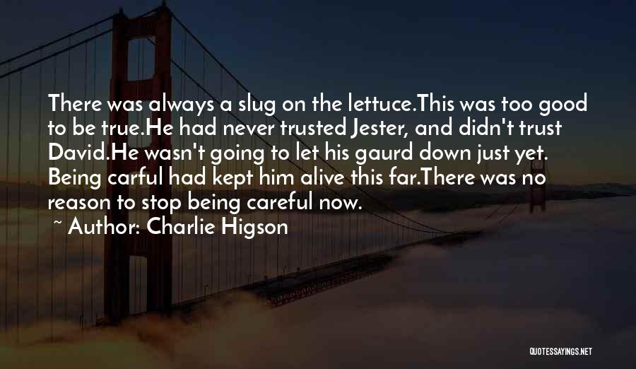 Never Be Too Good Quotes By Charlie Higson