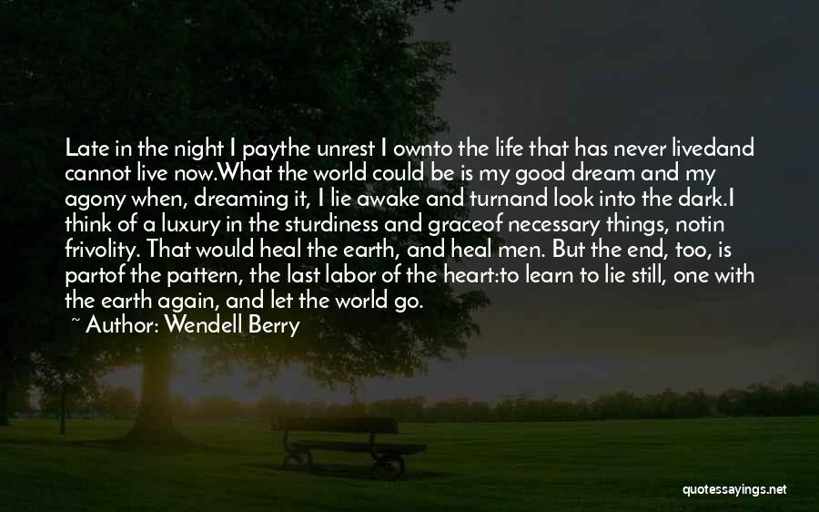 Never Be Too Good Quotes By Wendell Berry