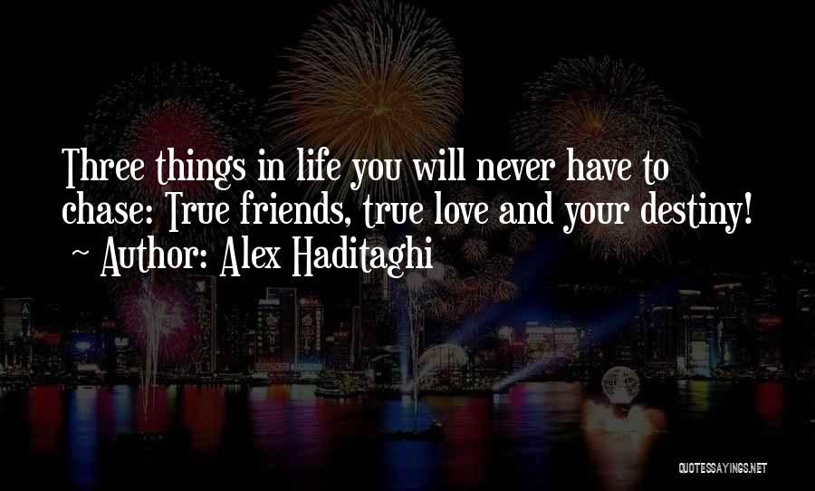 Never Chase Love Quotes By Alex Haditaghi