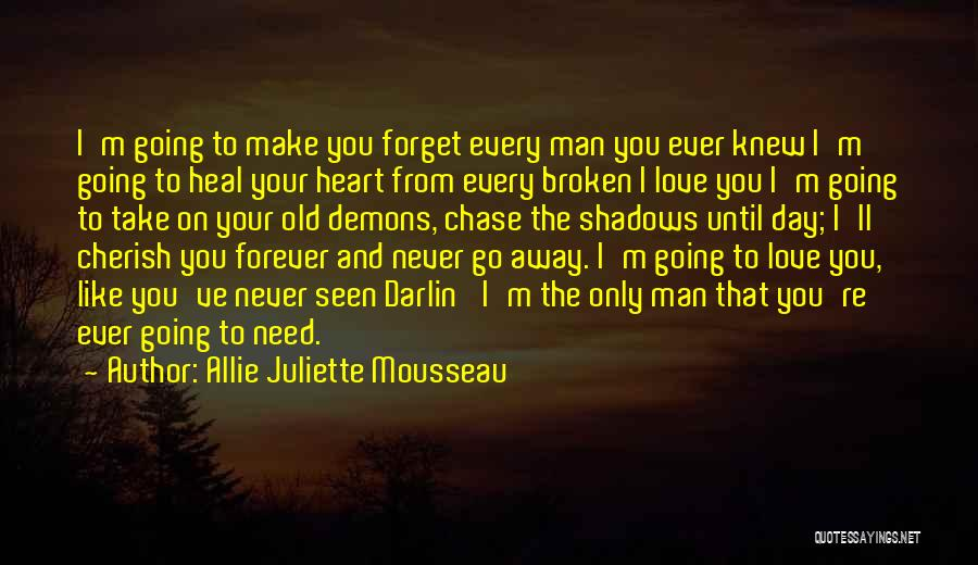 Never Chase Love Quotes By Allie Juliette Mousseau