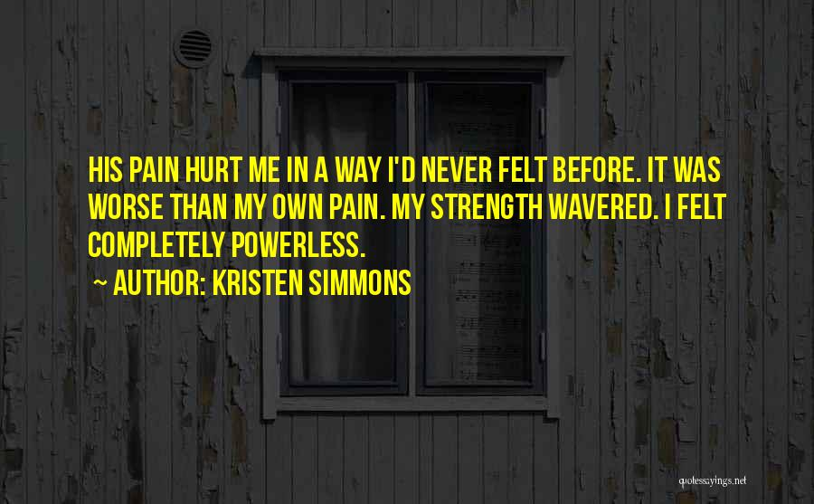 Never Chase Love Quotes By Kristen Simmons