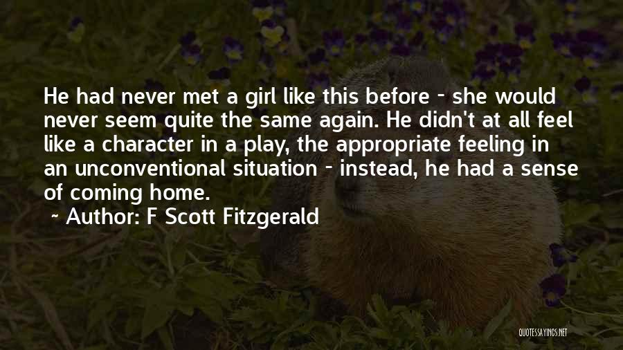 Never Coming Home Quotes By F Scott Fitzgerald