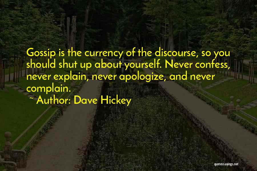 Never Confess Quotes By Dave Hickey