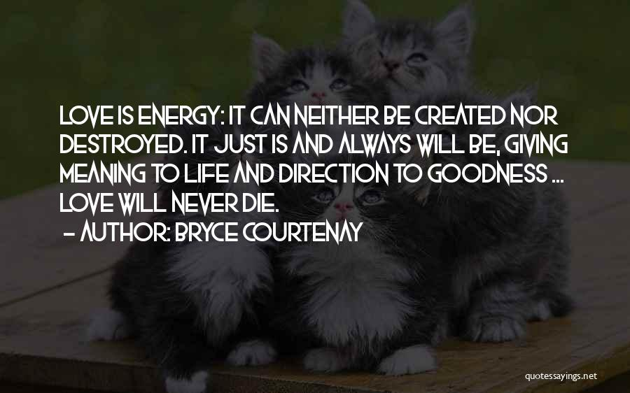 Never Die Love Quotes By Bryce Courtenay