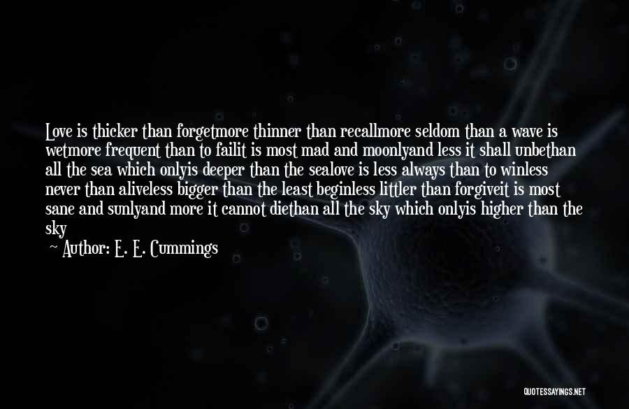 Never Die Love Quotes By E. E. Cummings
