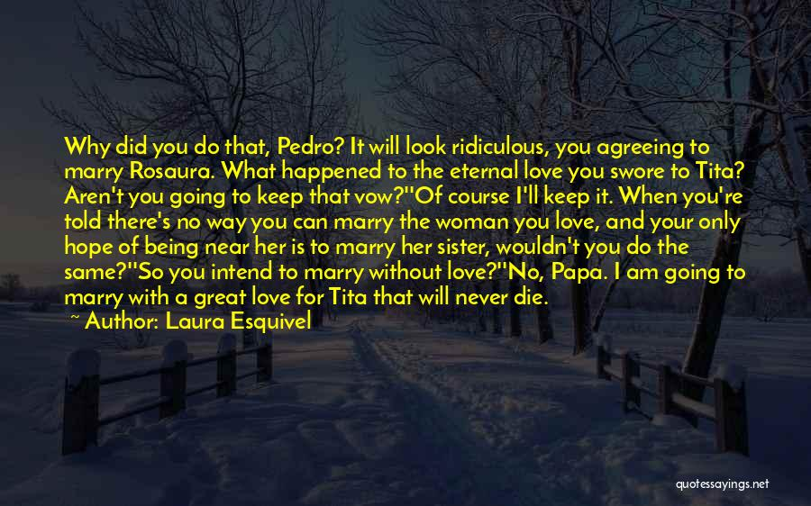 Never Die Love Quotes By Laura Esquivel