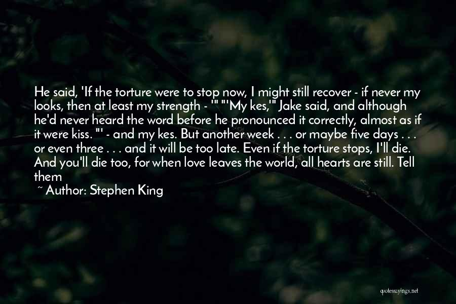 Never Die Love Quotes By Stephen King