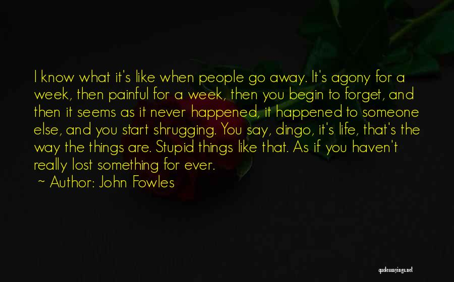 Never Ever Forget You Quotes By John Fowles