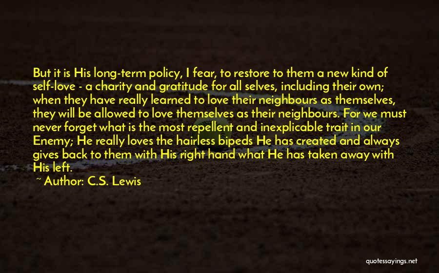 Never Fear Love Quotes By C.S. Lewis