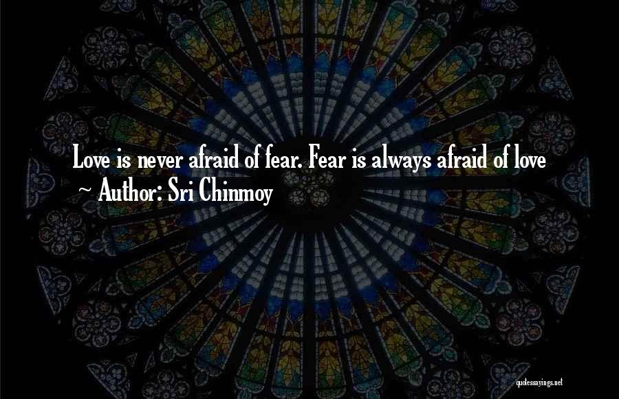 Never Fear Love Quotes By Sri Chinmoy