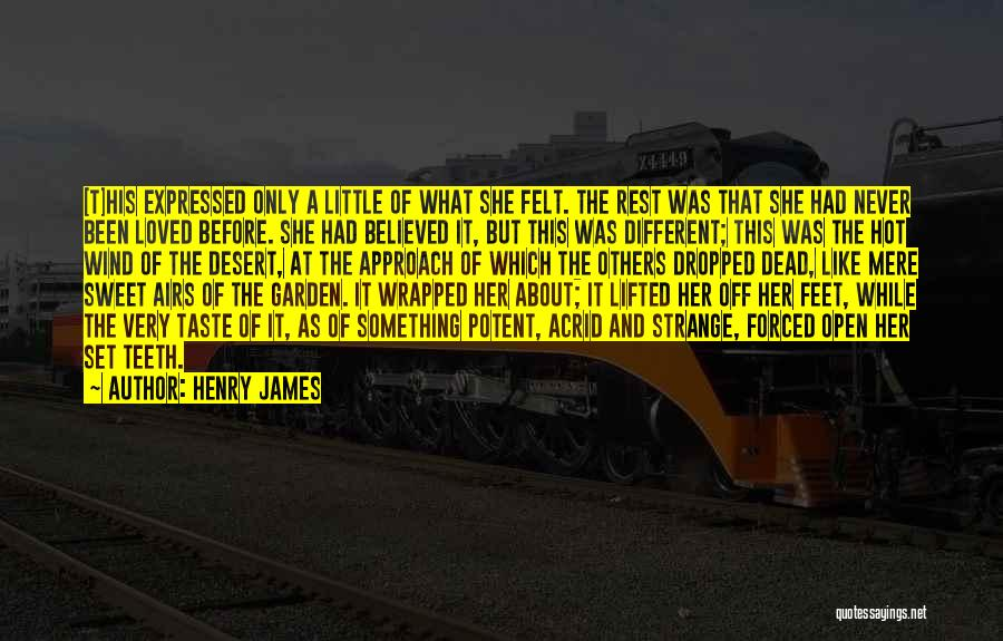 Never Felt Like This Before Quotes By Henry James