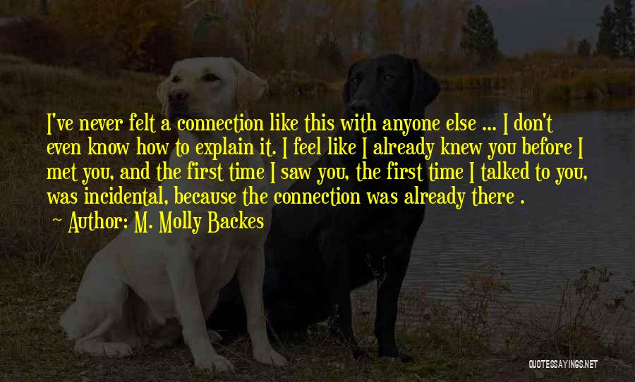 Never Felt Like This Before Quotes By M. Molly Backes
