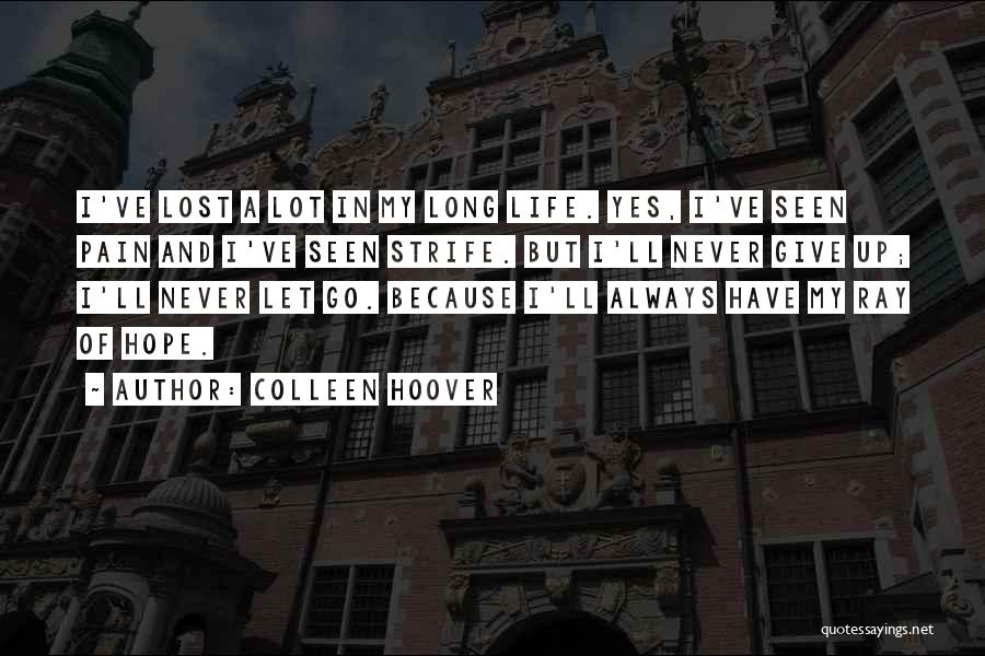 Never Give Up My Love Quotes By Colleen Hoover