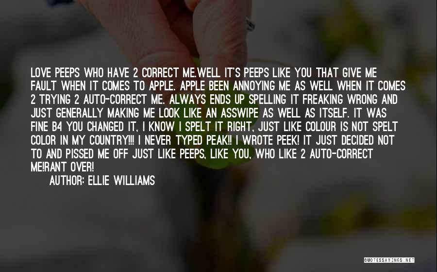 Never Give Up My Love Quotes By Ellie Williams