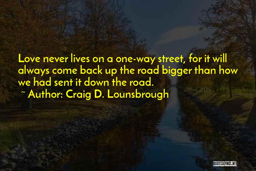 Never Give Up On Love Quotes By Craig D. Lounsbrough