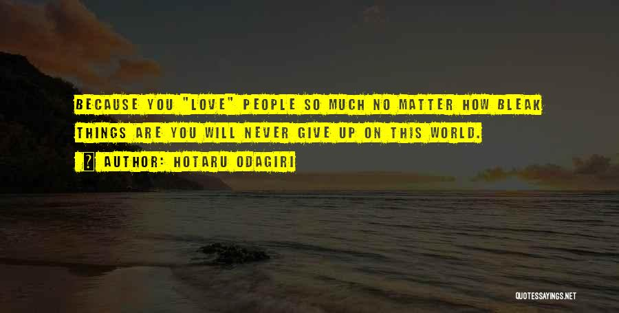 Never Give Up On Love Quotes By Hotaru Odagiri