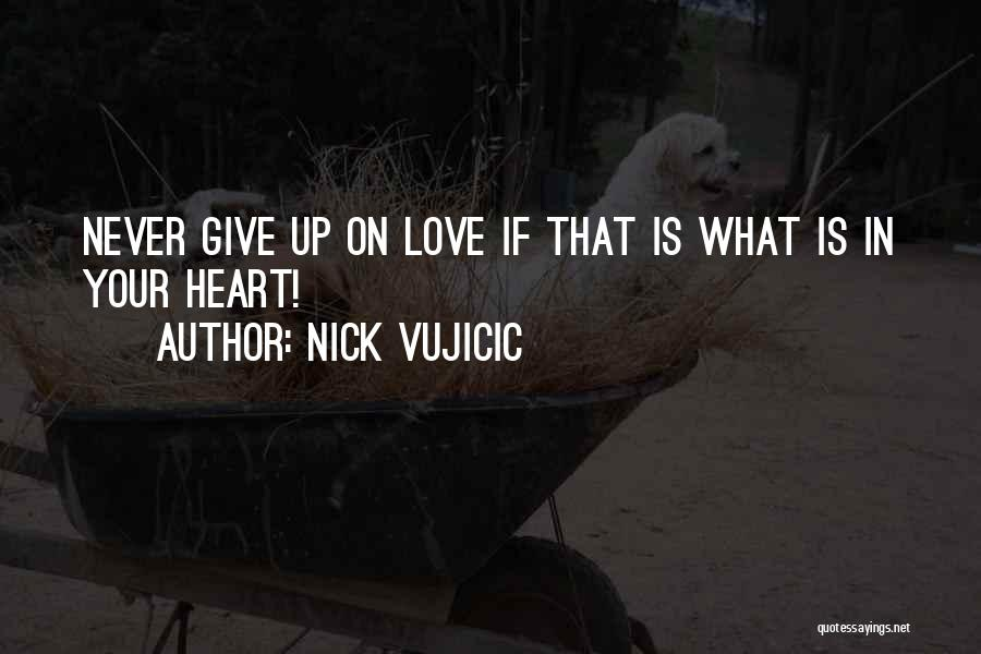 Never Give Up On Love Quotes By Nick Vujicic