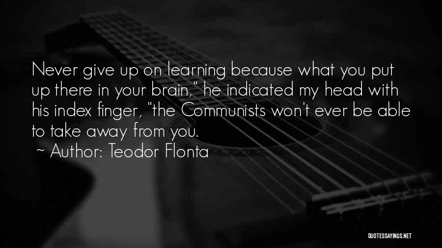 Never Give Up On Love Quotes By Teodor Flonta