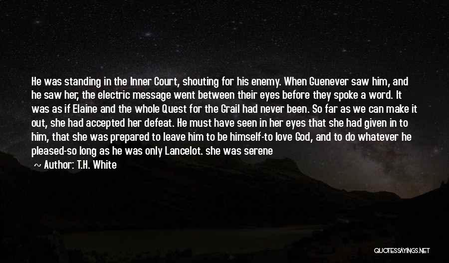 Never Leave Quotes By T.H. White