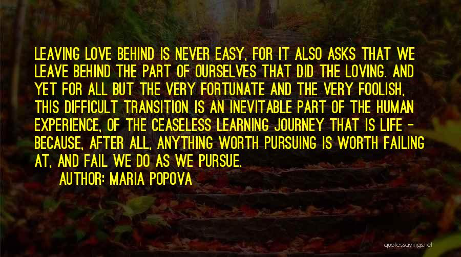 Never Leaving Love Quotes By Maria Popova