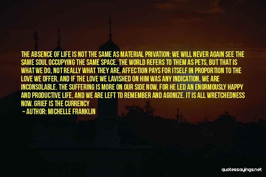 Never Leaving Love Quotes By Michelle Franklin