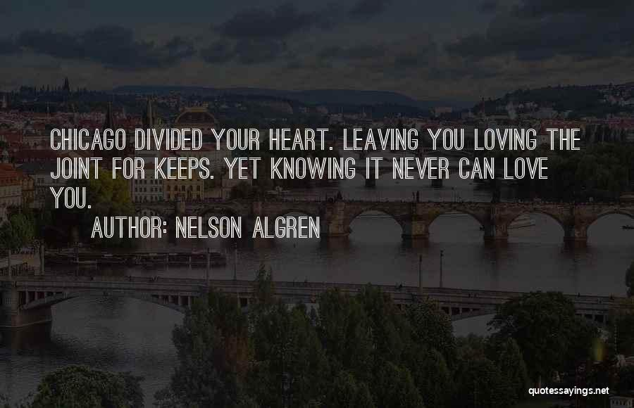 Never Leaving Love Quotes By Nelson Algren