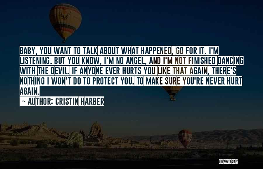 Never Let Anyone Hurt You Quotes By Cristin Harber