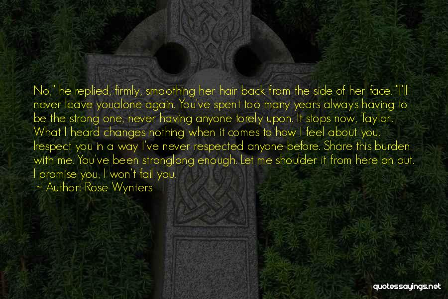 Never Let Anyone Hurt You Quotes By Rose Wynters