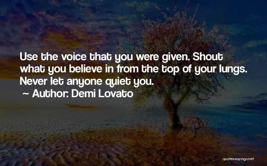 Never Let Anyone Use You Quotes By Demi Lovato
