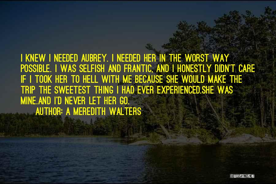 Never Let Her Go Quotes By A Meredith Walters