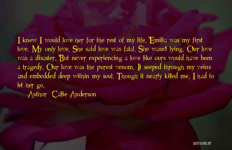 Never Let Her Go Quotes By Callie Anderson