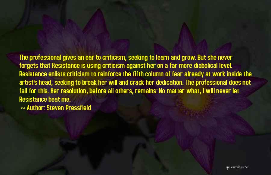 Never Let Me Fall Quotes By Steven Pressfield