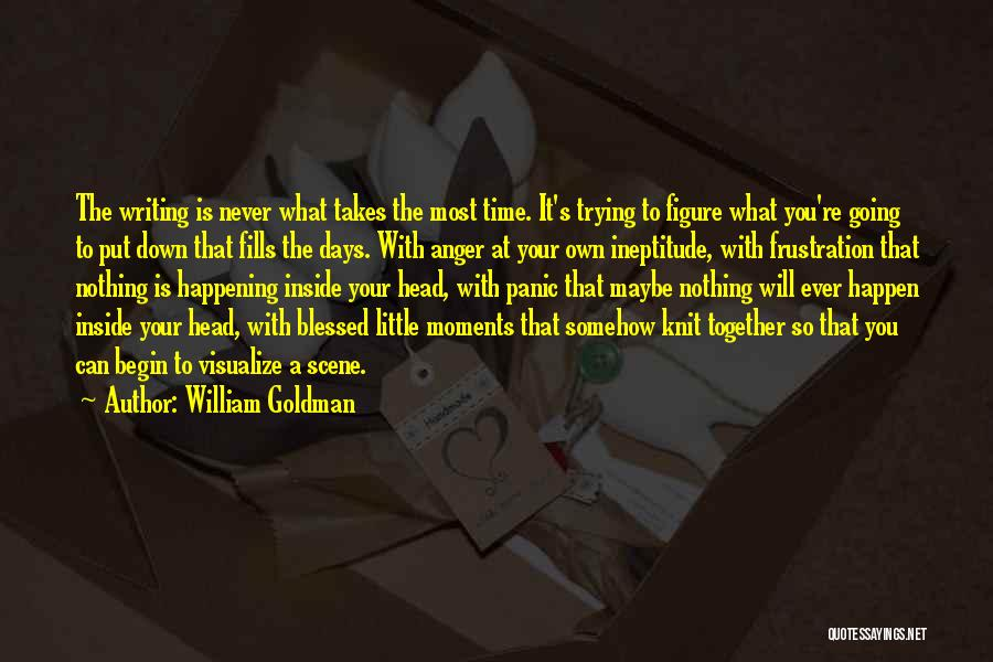 Never Put Your Head Down Quotes By William Goldman