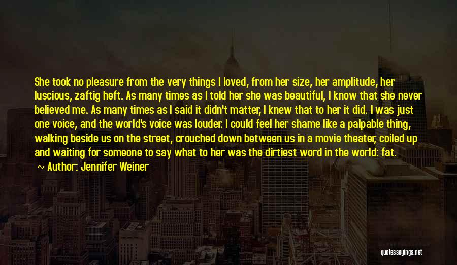 Never Say Never Movie Quotes By Jennifer Weiner