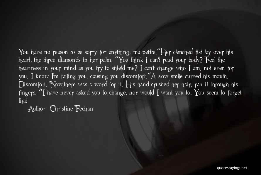 Never Say Sorry Quotes By Christine Feehan