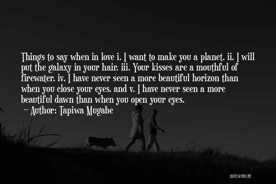Never Seen Love Quotes By Tapiwa Mugabe